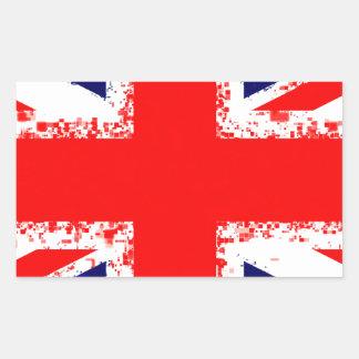 Sticker Rectangulaire Drapeau R-U de Londres de cric des syndicats