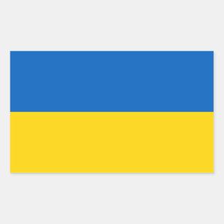 Sticker Rectangulaire Drapeau ukrainien