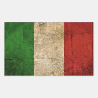 Sticker Rectangulaire Drapeaux de pays affligés | Italie