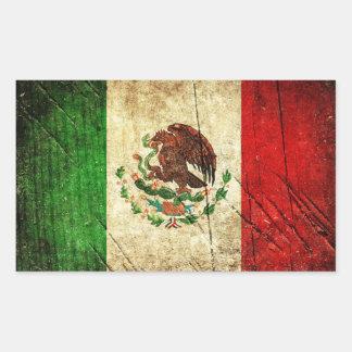 Sticker Rectangulaire Drapeaux de pays affligés | Mexique
