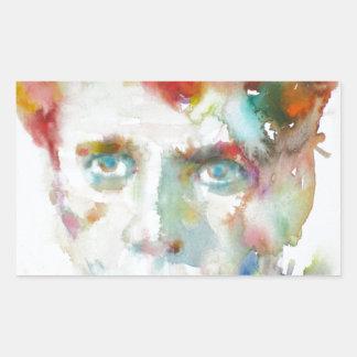 Sticker Rectangulaire Dylan Thomas - aquarelle portrait.1