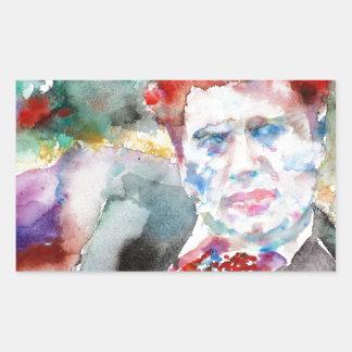 Sticker Rectangulaire Dylan Thomas - aquarelle portrait.2