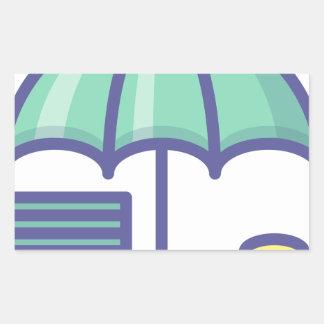 Sticker Rectangulaire Économiser pendant un jour de pluie