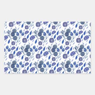 Sticker Rectangulaire écrasement de myrtille