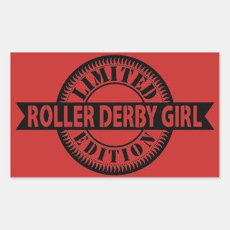 Sticker Rectangulaire Édition limitée de fille de Derby de rouleau,