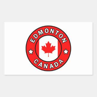 Sticker Rectangulaire Edmonton Canada
