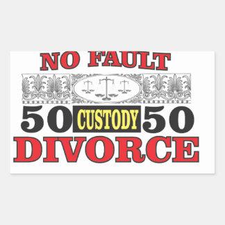 Sticker Rectangulaire égalité 50 du divorce sans faute 50