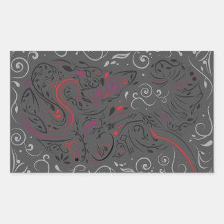 Sticker Rectangulaire éléphant fleuri
