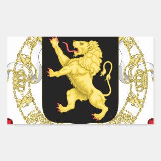 Sticker Rectangulaire Emblème belge - manteau des bras de la Belgique