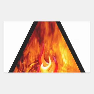 Sticker Rectangulaire Énergie de flamme