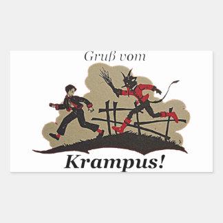Sticker Rectangulaire Enfant de chasses de Krampus