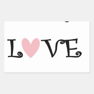 Sticker Rectangulaire enseignez l'amour inspirent