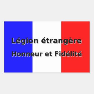 Sticker Rectangulaire Etrangere de légion - Honneur et Fidelite