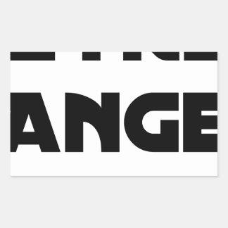 Sticker Rectangulaire ÊTRE ANGE - Jeux de mots - Francois Ville