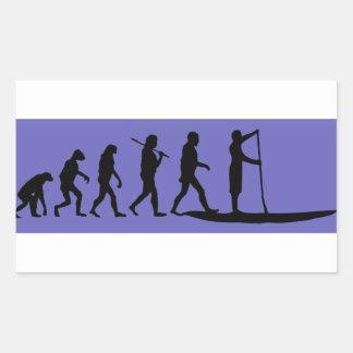 Sticker Rectangulaire Évolution de PETITE GORGÉE