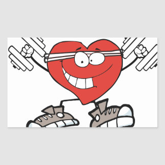 Sticker Rectangulaire exercice heart2