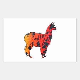 Sticker Rectangulaire Expressions de lama