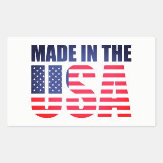 Sticker Rectangulaire Fabriqué aux Etats-Unis marquez la fierté de