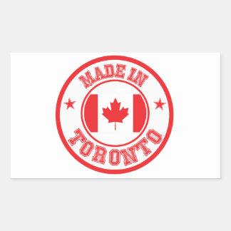 Sticker Rectangulaire Fait à Toronto