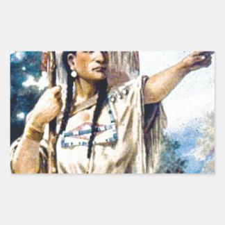 Sticker Rectangulaire femme indienne de squaw