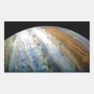 Sticker Rectangulaire Fermez-vous de la planète Jupiter du flyby de Juno