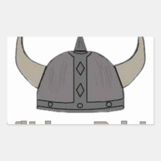 Sticker Rectangulaire Fierté de Viking