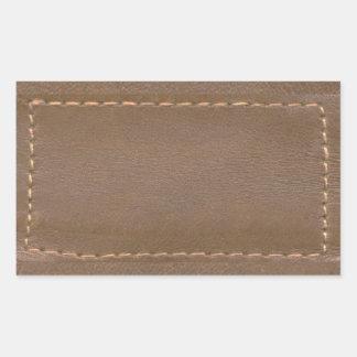 Sticker Rectangulaire Finition simili cuir vintage d'impression : Modèle