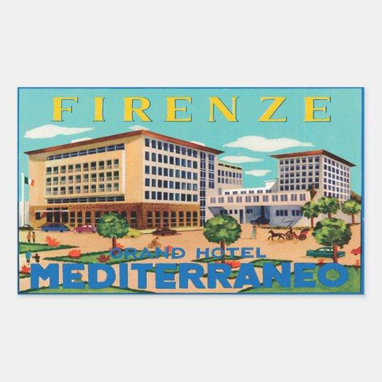 Sticker Rectangulaire Firenze Grand Hotel Mediterraneo