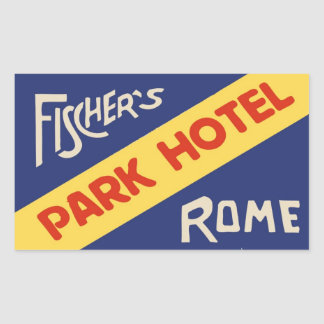 Sticker Rectangulaire Fisher's Park Hotel (Rome - Italy)