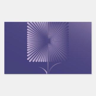 Sticker Rectangulaire Fleur carrée de violette