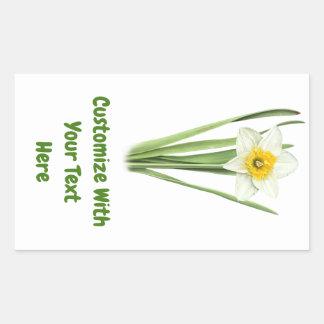 Sticker Rectangulaire Fleur de ressort de jonquille