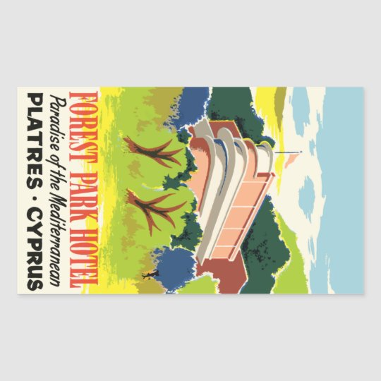 Sticker Rectangulaire Forest Park Hotel (Platres Cyprus) Vector format