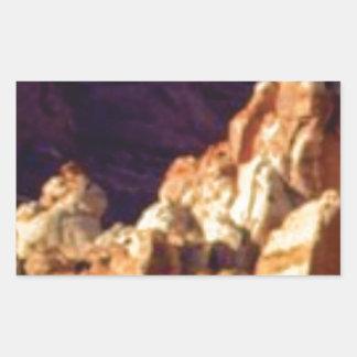 Sticker Rectangulaire formations de roche rouges dans la pierre
