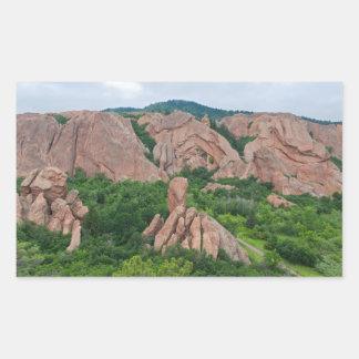Sticker Rectangulaire Formations de vallée et de roche chez Roxborough