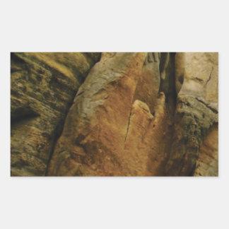 Sticker Rectangulaire forme et forme de roche