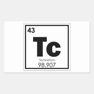 Sticker Rectangulaire Formu de chimie de symbole d'élément chimique de