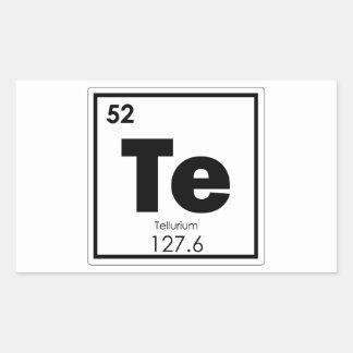 Sticker Rectangulaire Formul de chimie de symbole d'élément chimique de