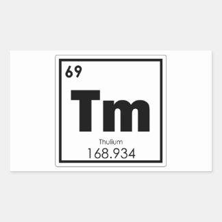 Sticker Rectangulaire Formule de chimie de symbole d'élément chimique de