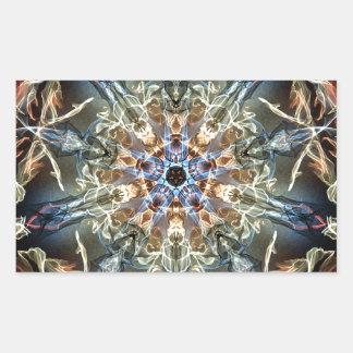 Sticker Rectangulaire Fractales de fantaisie et d'amusement avec les