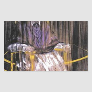 Sticker Rectangulaire Francis Bacon - papes criards