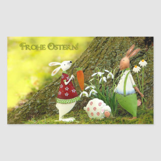 Sticker Rectangulaire Frohe Ostern