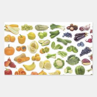 Sticker Rectangulaire Fruits et légume !