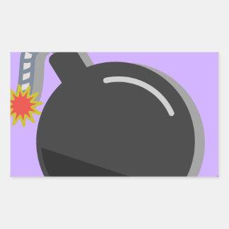 Sticker Rectangulaire Fusée pour bombe