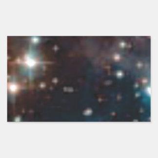 Sticker Rectangulaire galaxie de manière laiteuse