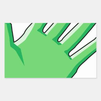 Sticker Rectangulaire Gant