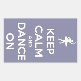 Sticker Rectangulaire Gardez le calme et dansez sur la lavande