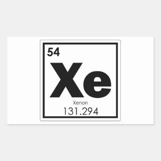 Sticker Rectangulaire GE de formule de chimie de symbole d'élément
