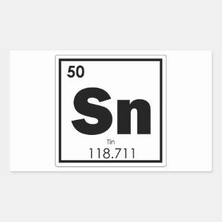 Sticker Rectangulaire Geek de formule de chimie de symbole d'élément