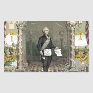 Sticker Rectangulaire George Washington en tant que franc-maçon