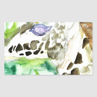 Sticker Rectangulaire GIRAFE .1 d'aquarelle